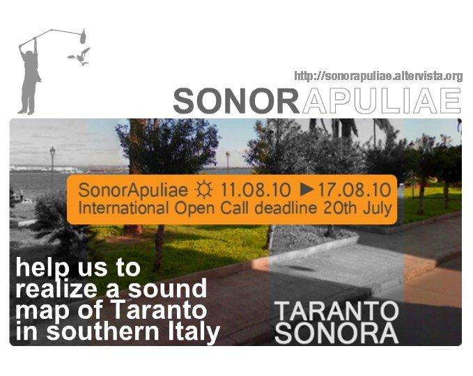 "New Acoustic Ecology Workshop ""Taranto Sonora"""