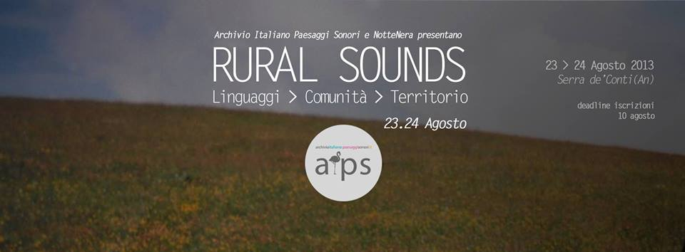 Rural Sounds | An acoustic Ecology Workshop at NotteNera Festival