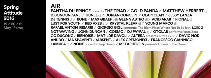 Spring Attitude Festival 2016