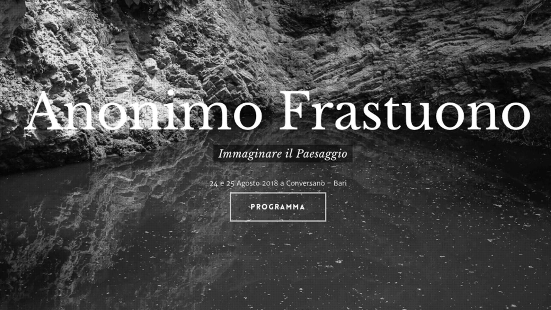 Anonimo Frastuono | Immaginare il Paesaggio | 24 25 Agosto a Conversano